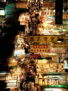 Temple Street Market, Kowloon, Hong Kong, China by Walter Bibikow