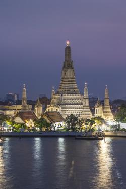 Thailand, Bangkok. Thonburi, Wat Arun detail. by Walter Bibikow