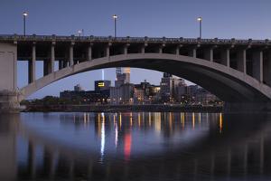 Third Ave, Bridge and Mill City, Stpaul, Minneapolis, Minnesota, USA by Walter Bibikow