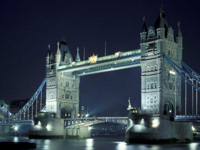 Tower Bridge at Night, London, England by Walter Bibikow