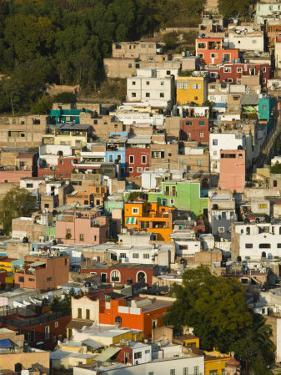 Town Buildings along Northern Valley, Guanajuato State, Mexico by Walter Bibikow