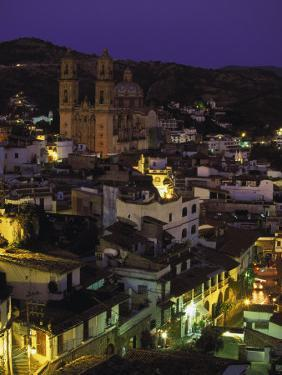 Town & Templo Santa Prisca, Taxco, Mexico by Walter Bibikow