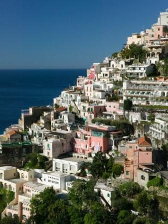 Town View from Amalfi Coast Road, Positano, Amalfi, Campania, Italy by Walter Bibikow