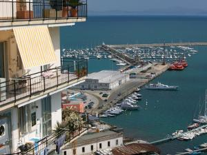 Town View with Port, Salerno, Campania, Italy by Walter Bibikow