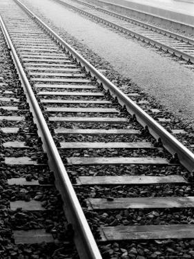 Train Tracks, Zurich, Switzerland by Walter Bibikow