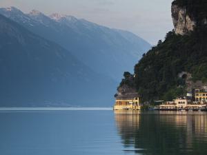 Trentino-Alto Adige, Lake District, Lake Garda, Riva Del Garda, Excelsior Hotel at La Punta, Italy by Walter Bibikow