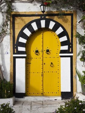 Tunisia, Sidi Bou Said, Building Detail by Walter Bibikow