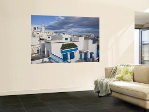Tunisia, Sidi Bou Said, Elevated Town View by Walter Bibikow