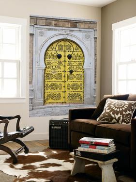 Tunisia, Tunis, Medina, Door on Dar El Jeld Street by Walter Bibikow