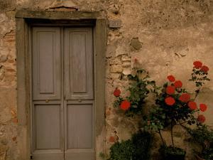Tuscan Doorway, Castellina, Il Chianti, Tuscany, Italy by Walter Bibikow