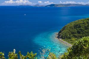 U.S. Virgin Islands, St. John. Friis Bay waterfront by Walter Bibikow