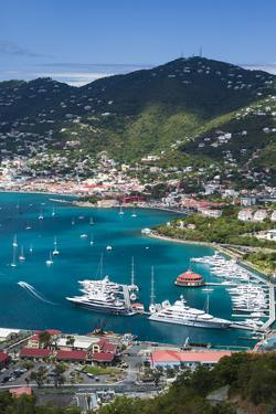 U.S. Virgin Islands, St. Thomas. Charlotte Amalie, Havensight Yacht Harbor by Walter Bibikow