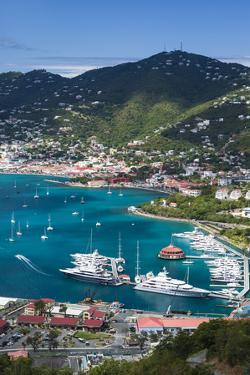 U.S. Virgin Islands, St. Thomas. Charlotte Amalie, Havensight Yacht Harbor by Walter Bibikow