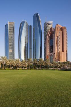 UAE, Abu Dhabi. Etihad Towers by Walter Bibikow