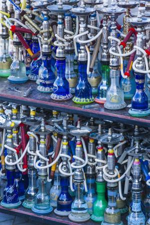 UAE, Al Ain. Jabel Hafeet, Al Ain's mountain, shisha pipes by Walter Bibikow