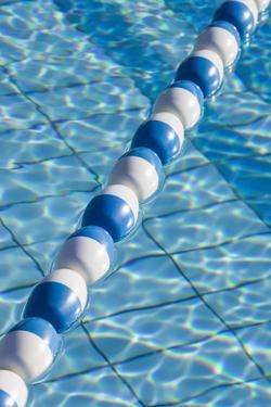 UAE, Al Ain. Jabel Hafeet, Al Ain's mountain, swimming pool detail by Walter Bibikow