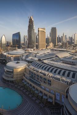 UAE, Downtown Dubai. Dubai Mall, elevated view by Walter Bibikow