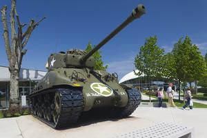 Us Sherman Tank, Airborne Museum, Sainte Mere Eglise, Normandy, France by Walter Bibikow