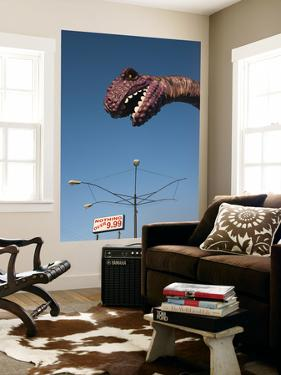 USA, Florida, Florida Panhandle, Panama City Beach, Dinosaur Statue at Miniature Golf Course by Walter Bibikow