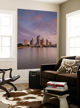 USA, Florida, Tampa, Skyline from Hillsborough Bay by Walter Bibikow