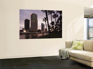 USA, Florida, Tampa, Skyline from Hillsborough River by Walter Bibikow