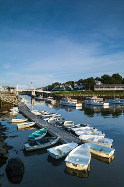 USA, Maine, Ogunquit, Perkins Cove, Boat Harbor by Walter Bibikow