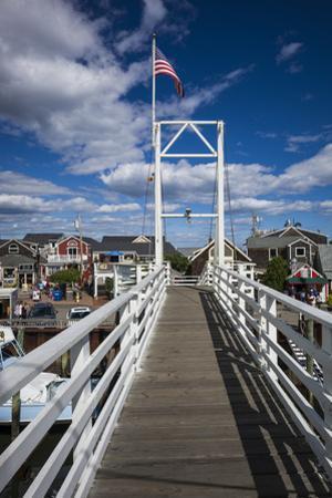 USA, Maine, Ogunquit, Perkins Cove, pedestrian drawbridge by Walter Bibikow
