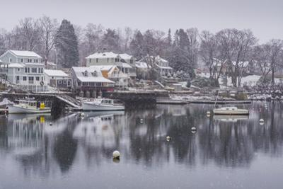 USA, Massachusetts, Cape Ann, Gloucester, Annisquam, Lobster Cove, early winter by Walter Bibikow