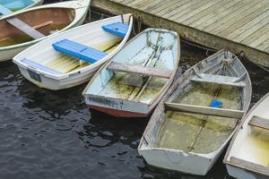 USA, Massachusetts, Cape Ann, Gloucester. Boats in Annisquam Harbor by Walter Bibikow