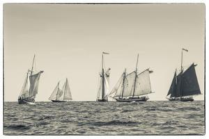 USA, Massachusetts, Cape Ann, Gloucester, schooner sailing ships by Walter Bibikow