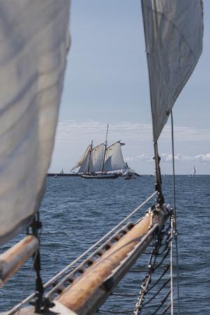 USA, Massachusetts, Cape Ann, Gloucester, schooner sailing ships by Walter Bibikow