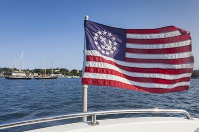 USA, Massachusetts, Cape Ann, Gloucester, schooner US flag by Walter Bibikow