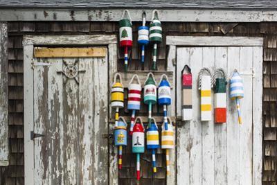 USA, Massachusetts, Cape Ann, Rockport, Rockport Harbor, Lobster Buoys by Walter Bibikow