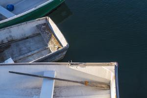 USA, Massachusetts, Cape Ann, Rockport. Rockport Harbor, small dories by Walter Bibikow