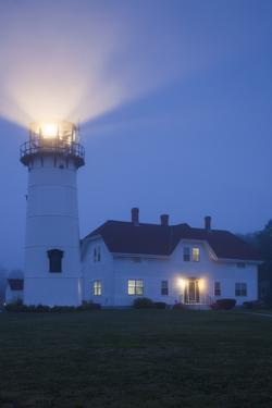 USA, Massachusetts, Cape Cod, Chatham, Chatham Lighthouse in the Fog by Walter Bibikow