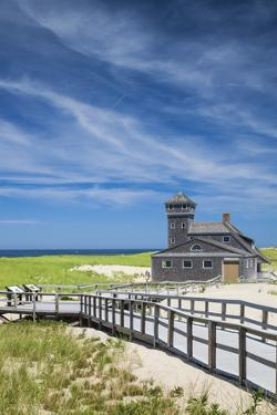 USA, Massachusetts, Cape Cod, Provincetown, Race Point Beach, Old Harbor Life-Saving Station by Walter Bibikow