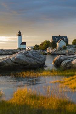USA, Massachusetts, Gloucester, Annisquam, Annisquam Lighhouse by Walter Bibikow