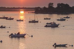 USA, Massachusetts, Ipswich. Sunrise over Great Neck by Walter Bibikow