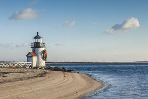 USA, Massachusetts, Nantucket Island. Nantucket Town, Brant Point Lighthouse by Walter Bibikow