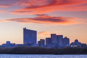 USA, New Jersey, Atlantic City, City Slkyine from the West by Walter Bibikow