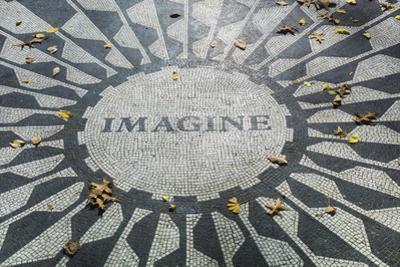 USA, New York, City, Central Park, John Lennon Memorial, Imagine by Walter Bibikow