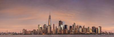 USA, New York City, Lower Manhattan skyline with Freedom Tower from New Jersey by Walter Bibikow