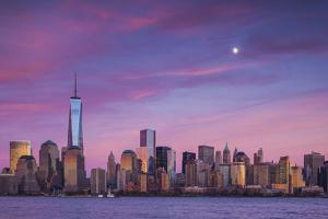 USA, New York, New York City, Lower Manhattan and Freedom Tower by Walter Bibikow