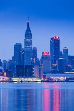 USA, New York, New York City, Midtown Manhattan from Weehawken, New Jersey, Dawn by Walter Bibikow