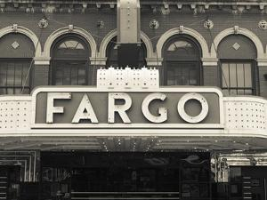 USA, North Dakota, Fargo, Fargo Theater, Marquee by Walter Bibikow