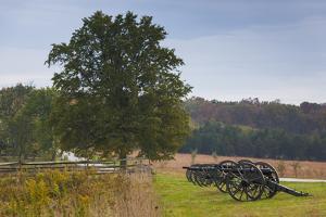 USA, Pennsylvania, Gettysburg, Artillery on Confederate Avenue by Walter Bibikow