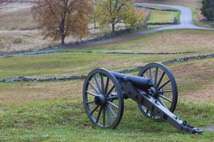 USA, Pennsylvania, Gettysburg, Battle of Gettysburg, Civil War Cannon by Walter Bibikow