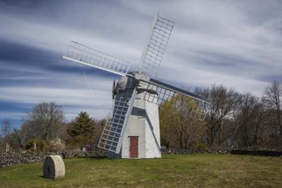 USA, Rhode Island, Jamestown, Jamestown Windmill by Walter Bibikow