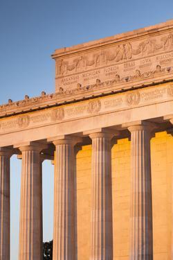 USA, Washington Dc, Lincoln Memorial, Sunrise by Walter Bibikow