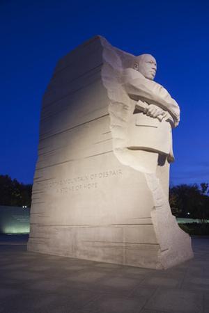 USA, Washington Dc, Martin Luther King Memorial, Dawn by Walter Bibikow